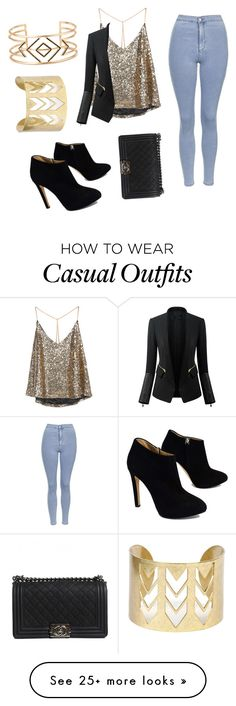 """""""Casual party"""" by raya122 on Polyvore featuring Topshop, Giuseppe Zanotti, Chanel and Stella & Dot"""