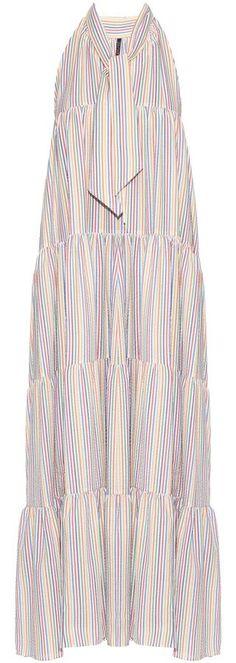 LISA MARIE FERNANDEZ Baby Doll striped seersucker dress