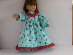 Ladybugs Nightgown with Red Lace Made to Fit Dolls by something2do