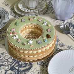 Pretty Birthday Cakes, Pretty Cakes, Frog Cakes, Cute Baking, Cute Desserts, Just Cakes, Cafe Food, Sweet Cakes, Food Cravings