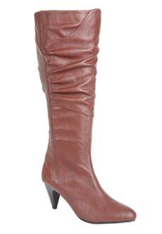 Roamans Plus Size Jackie Wide Calf High Heel Boot by Comfortview (BURGUNDY,9 W) $144.99