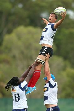Michael Rhodes catches the ball from a lineout during a Stormers Super Rugby training session at Sanctuary Cove on March 26, 2014 in Gold Co...
