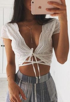 Bustier Crop Top Lacing Up Bra Camisoles For Women