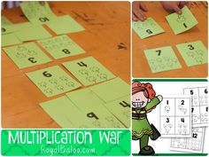Shamrock Multiplication War!  Great practice for multiplication facts up to 12
