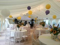 Lanterns & Sunflowers - #marqueehireuk #marqueehire #Notts #Derby #Leicester #weddings #corporate #events