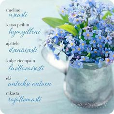 Finnish Words, Mind Power, Life Is Beautiful, Cool Words, Glass Vase, Messages, Photo And Video, Feelings, Quotes