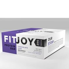FitJoy High Protein Bars - Chocolate Iced Brownie - 12 Bars Don't let fudgy brownies tempt you into abandoning your weight loss goals. You can now satisfy your cravings and keep your waistline in check with FitJoy's healthy and tasty Chocolate Iced Brownie protein bar. This bar is full of rich chocolaty flavor heightened by a soft, delightful brownie-like texture with a slight pecan crunch. It's a seriously delicious treat for anyone serious about their health, and their brownies…