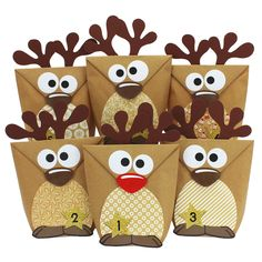 DIY advent calendar set reindeer for filling - with brown bellies for the . - DIY advent calendar set reindeer for filling – with brown bellies for handicrafts – with 24 bag - Advent Calenders, Diy Advent Calendar, Christmas Calendar, Kids Christmas, Diy Cadeau Noel, Theme Noel, Christmas Decorations, Christmas Ornaments, Holiday Crafts