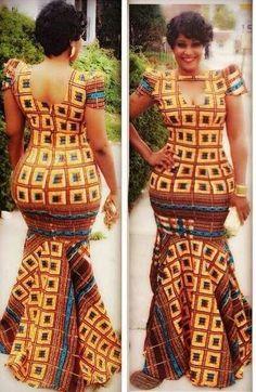 Latest Edition Of Ankara & Kente Styles: Hot, Slinky, Sassy & Stunning - Wedding Digest Naija African Dresses For Women, African Print Dresses, African Print Fashion, Africa Fashion, African Attire, African Wear, African Fashion Dresses, African Women, African Prints