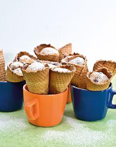 Eishörnchen-Kuchen - Eine tolle Snack-Idee für den Sektempfang, die Ihre Gäste begeistern wird.