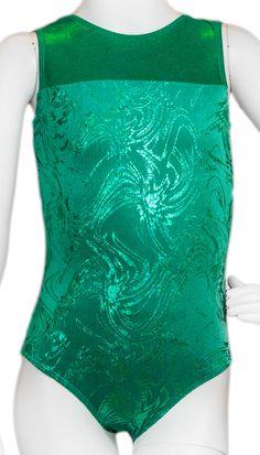 Green Shimmer Velvet Leotard #leotard #gymnastics #destiraleotards