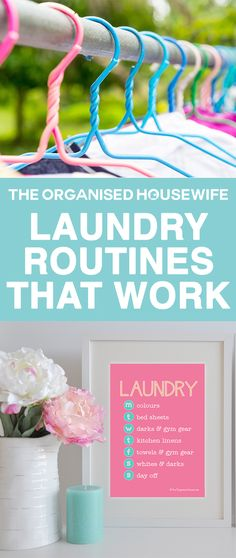 Cleaning dirty clothes doesn't have to be one of those jobs you dread doing. It can be a very quick task if you create and streamline a laundry routine, soon it becomes a habit and only takes a matter of minutes each day to keep on top of.