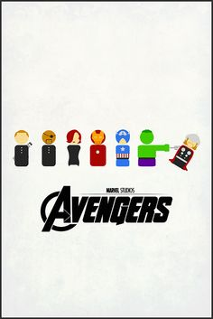Avengers:  Can paint peg people with this simple color scheme.