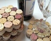 corks- cool idea for drink holders; heat resistant mats for counter tops; placemats; framing ideas; cork art; etc.