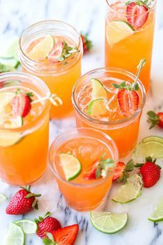 This strawberry pineapple mojito is a fun, sweet tropical twist to everyone's favorite cocktail!