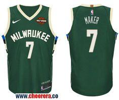 d46b181c8 Men s Nike NBA Milwaukee Bucks  7 Thon Maker Jersey 2017-18 New Season Green