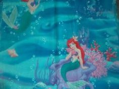Welcome to Terry's Quilting Center!  Up for auction is a child/baby/toddler's pillow!  It is a Little Mermaid/Ariel design!  THIS AUCTION IS FOR ONE PILLOW ONLY!!! EACH PILLOW PLACEMENT IS SLIGHTLY DIFFERENT.  The back of the pillow is dark pink to match.  Cost is $8.50