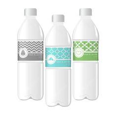 MOD Custom Pattern Theme Water Bottle Labels, Price/each