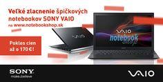 Sony Vaio Pro - Najľahší UltraBook na svete od Sony teraz za super ceny. Zľavy až 170 €. Vyrobený z materiálu z jednosmerného uhlíkového vlákna s hmotnosťou iba 1 kg a vysokou odolnosťou.