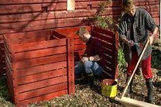 Kompost för trädgården
