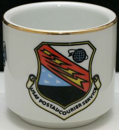 USAF UNITED STATES AIR FORCE POSTAL COURIER SERVICE MUG/CUP White  #Schonwald