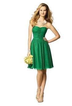 Kelly Green Bridesmaid Dress: Alfred Angelo
