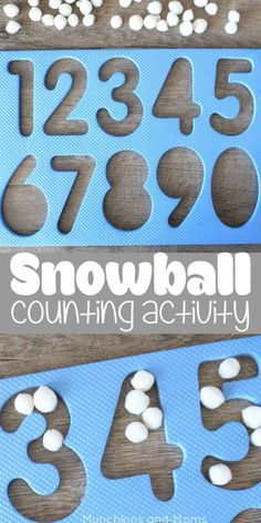 Snowball Counting Activity. Preschool math activity for winter theme.