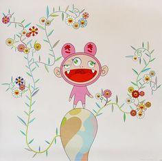 Kiki with moss by Takashi Murakami