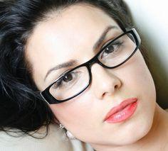 Rectangular glasses.