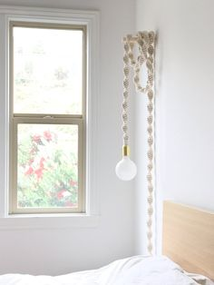 Be captivated by these dreamy pendant light fixtures by Windy Chien. We are the … - All For Decoration Rope Pendant Light, Pendant Light Fixtures, Hanging Rope, Hanging Lights, Hanging Lamps, Hanging Pendants, Home Lighting, Ceiling Lights, Diy