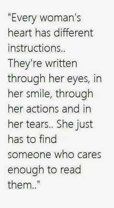 Every woman's heart has different instructions | Inspirational Quotes