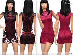 Round neck, sleeveless design, front decorative buttons. 2 different colors. New item. Custom mesh by me. Found in TSR Category 'Sims 4 Female Everyday'