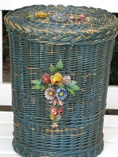 french basket . Love it ...color painting personality!
