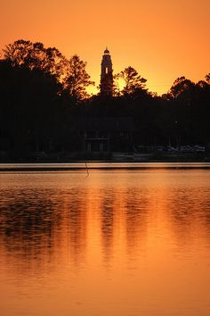 LSU lakes at sunset