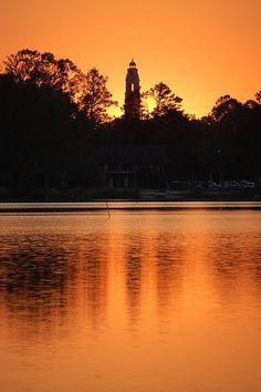 sunset, lsu lakes, baton rouge, la by turdpolisher, via Flickr