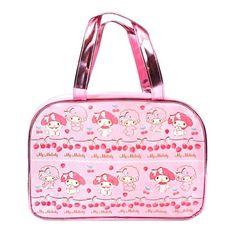 Sanrio Original My Melody Beach Shoulder Boston Bag PVC Clear Spa Bag Japan  #SanrioJapan