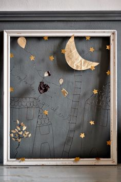 so beautiful combination of paper and wire (with golden stars ;) ), seen on le bianche margherite Shadow Box Art, Theme Noel, Assemblage Art, Wire Crafts, Wire Art, Art Plastique, Medium Art, Altered Art, Metal Art