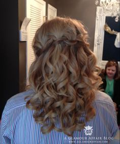Waterfall braid for prom. Curls, prom hair