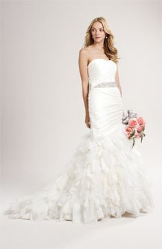 Jovani Jeweled Pleat & Ruffle Wedding Gown.