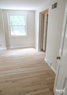 Sharing the story of refinishing my upstairs hardwood floors as well as my process for choosing a hardwood floor stain color. Hardwood Floor Stain Colors, Types Of Hardwood Floors, Diy Wood Floors, Refinishing Hardwood Floors, Diy Flooring, Red Oak Floors, Light Hardwood Floors, Walnut Floors, Oak Floor Stains