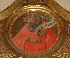 Lorenzo Monaco - Annunciazione Salimbeni (Pala d'altare), dettaglio cuspidi - c.1425 - Cappella Bartolini Salimbeni - Firenze, Basilica della S. Trinità