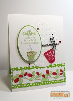 *******Karen's Creative Mess*******: Gina K. Designs Incentive Inspirational Blog Hop Coffee Therapy!