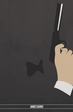 James Bond ~ Top 9 Movie Franchises by Sara Barney ~ Minimal Movie Posters