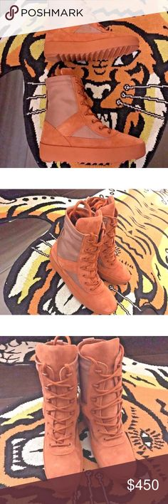 Yeezy boots season 3... I️ have these brand new in the box Yeezy Boots women's size 10 men's 8.... Yeezy Shoes Lace Up Boots