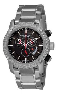 a5a4b6d4fab Relógio Burberry Men s BU7702 Heritage Black Chronograph Dial Bracelet  Watch  Relógio  Burberry Relógio Fossil