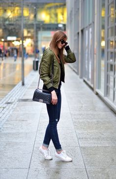Green Bomber Jacket Look                                                                                                                                                                                 More