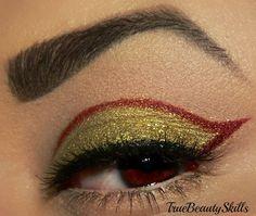 Iron Man inspired make up