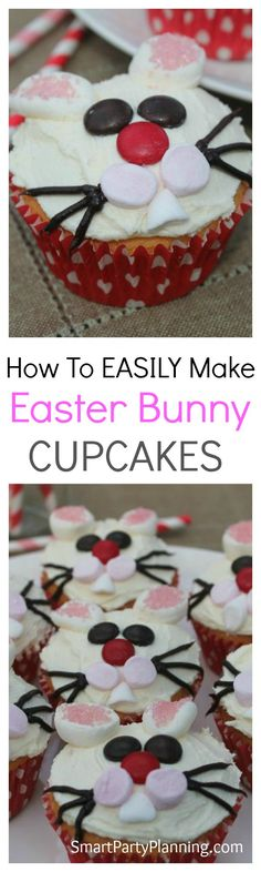 Super easy cute Easter bunny cupcakes the family will love. Easter bunny cupcakes are incredib Easter Bunny Cupcakes, Cute Easter Bunny, Bunny Bunny, Happy Easter, Cake Recipes, Dessert Recipes, Egg Recipes, Drink Recipes, Easter Recipes
