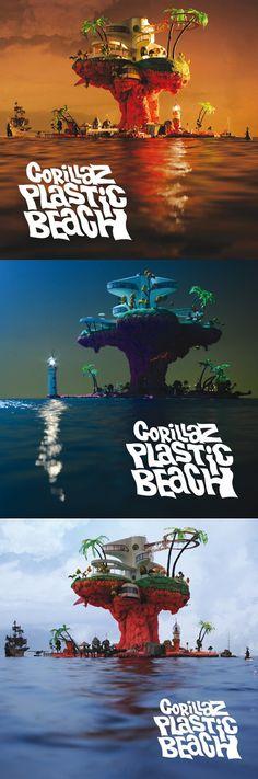 Plastic Beach album by Gorillaz. listening to the gorillaz on pandora right now