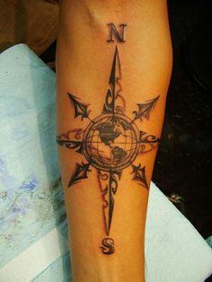 Cool Compass Tattoo - http://www.gotattooideas.com/cool-compass-tattoo/